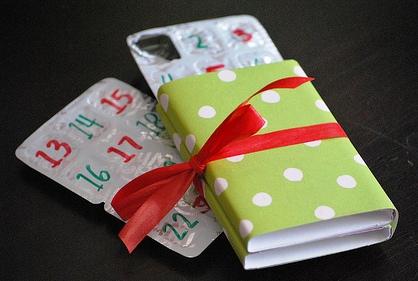 žvýkačkový adventní kalendář